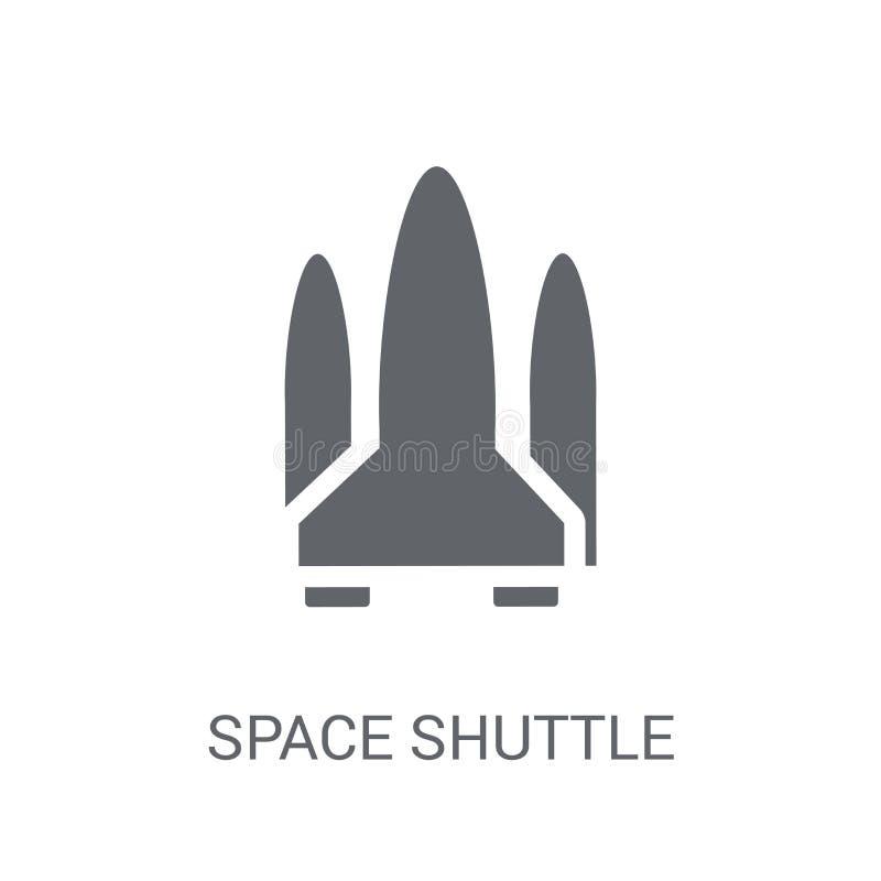 Space shuttle icon. Trendy Space shuttle logo concept on white b stock illustration