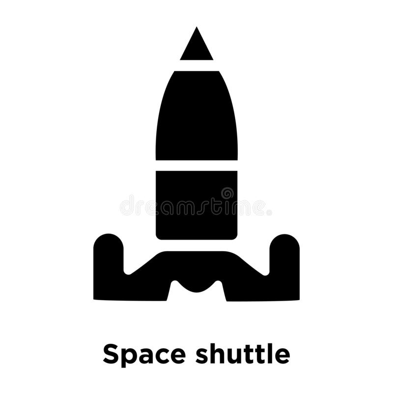 Space shuttle icon vector isolated on white background, logo con stock illustration