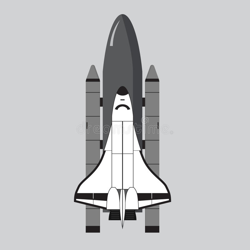 Space Shuttle illustration isolated on gray royalty free illustration