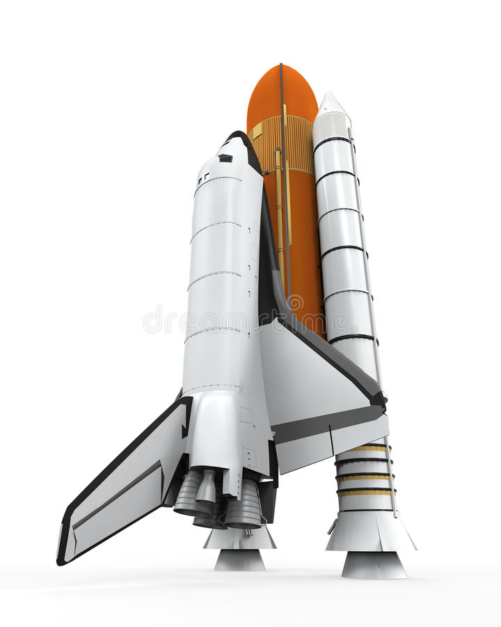 Space Shuttle Isolated stock illustration