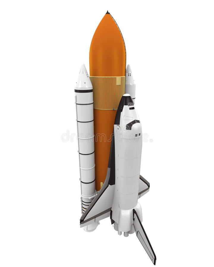 Space Shuttle Isolated royalty free illustration