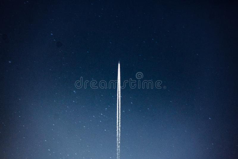 Space Shuttle Launch during Nighttime royalty free stock image