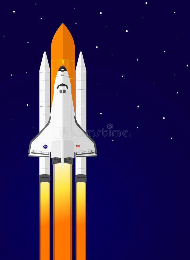 Space Shuttle Launch, vector illustration. stock illustration