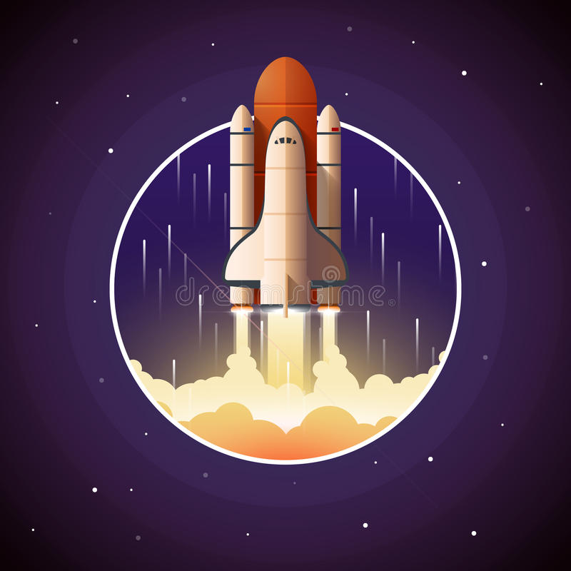 Space Shuttle Launch royalty free illustration