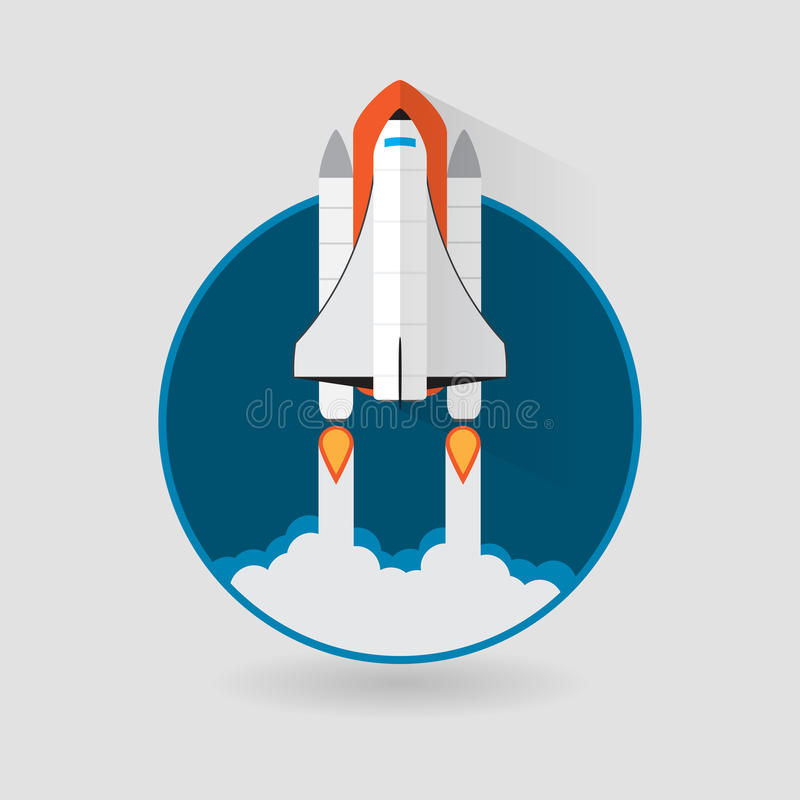 space shuttle launch vector illustration stock vector rh dreamstime com space shuttle thrust vectoring