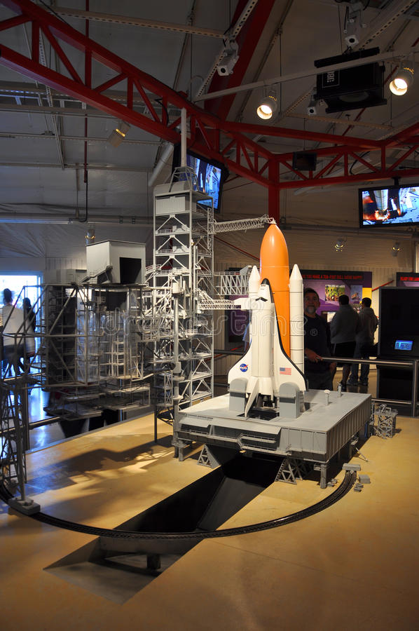 Space Shuttle Model. In Kennedy Space Center Visitor Complex, Cape Canaveral, Florida, USA stock photo