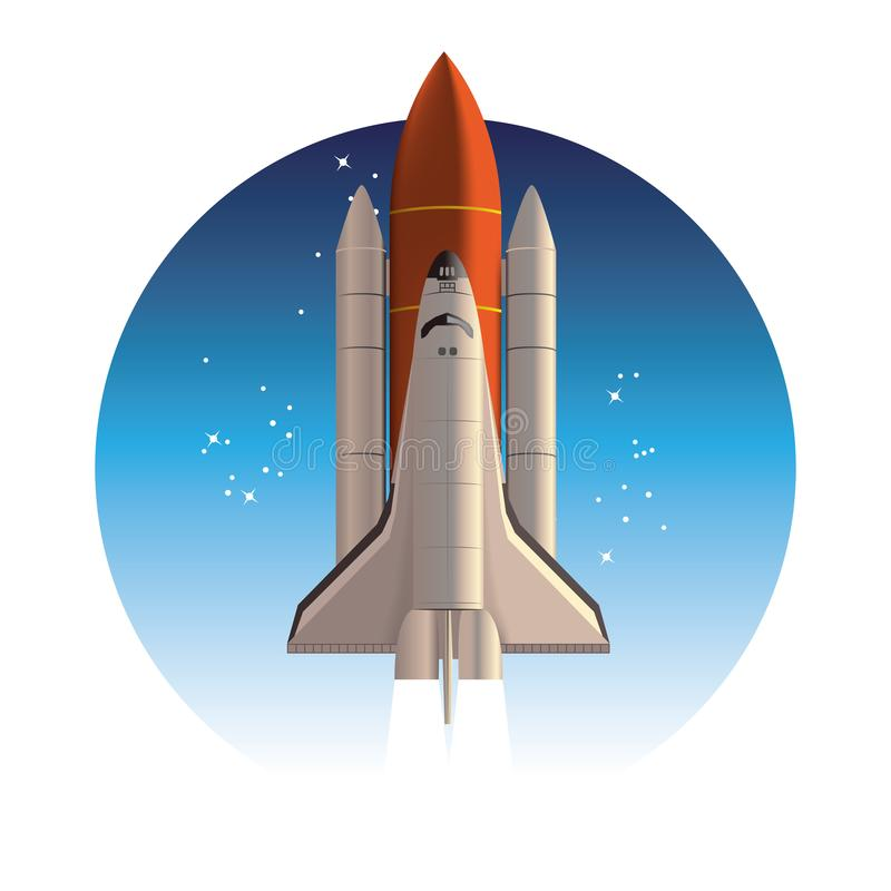 Space shuttle. Rocket launch. royalty free illustration