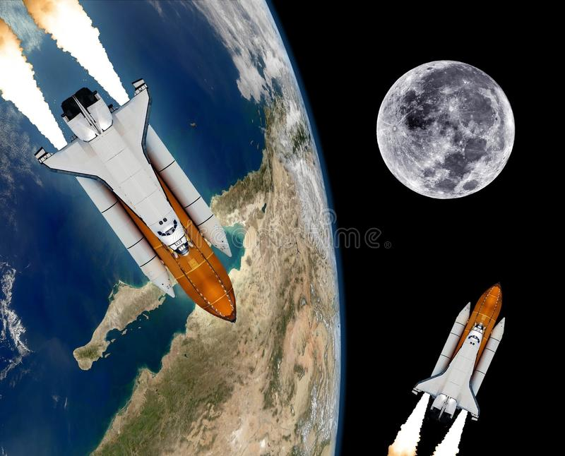 Space Shuttle Rocket Spaceship stock illustration