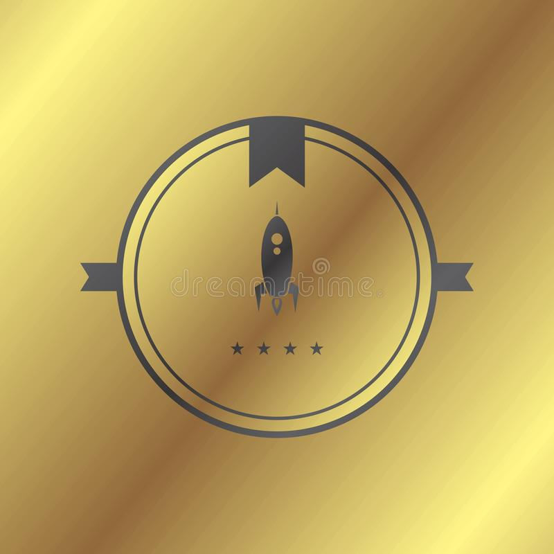 Space shuttle. Rocket theme art illustration royalty free illustration