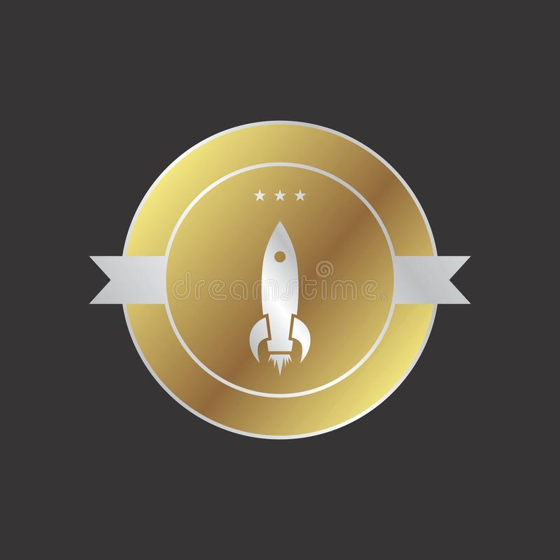 Space shuttle. Rocket theme art illustration vector illustration