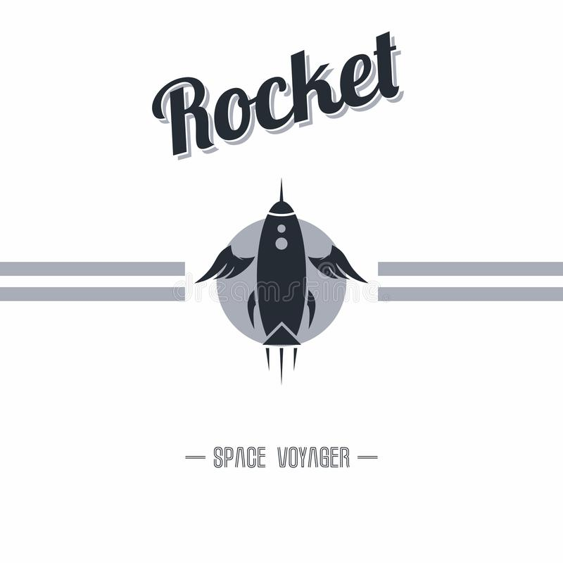 Space shuttle. Rocket theme art illustration stock illustration