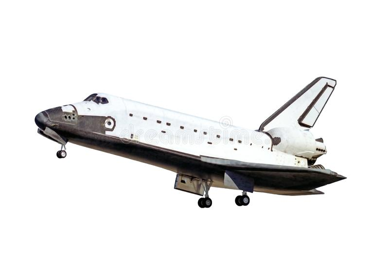 The space shuttle, during take-off, isolated on a white background. Elements of this image were furnished by NASA. For any purpose stock photography