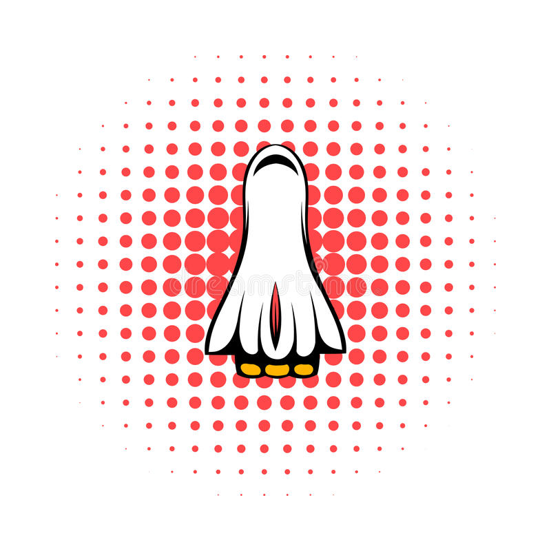 Space shuttle taking off icon, comics style. Space shuttle taking off icon in comics style on a white background royalty free illustration