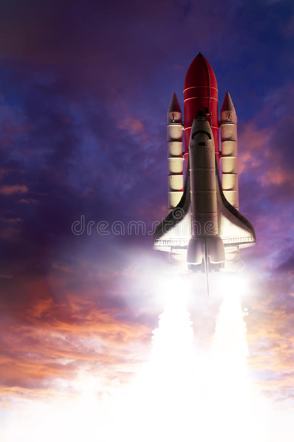 Space shuttle. Taking off on a mission royalty free stock photos