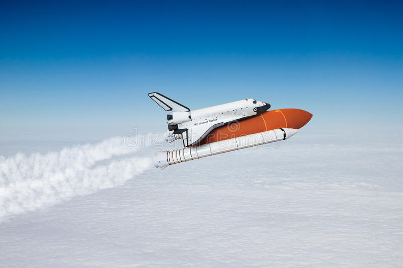 Space shuttle taking off to the sky. ( NASA image not use stock photos