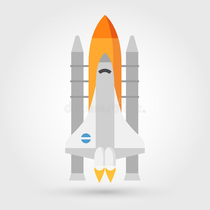 space shuttle vector icon stock vector illustration of satellite rh dreamstime com space shuttle vector art