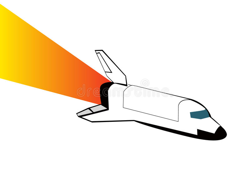 Space shuttle. Vector illustration eps 10. Space shuttle on white background. Vector illustration eps 10 stock illustration