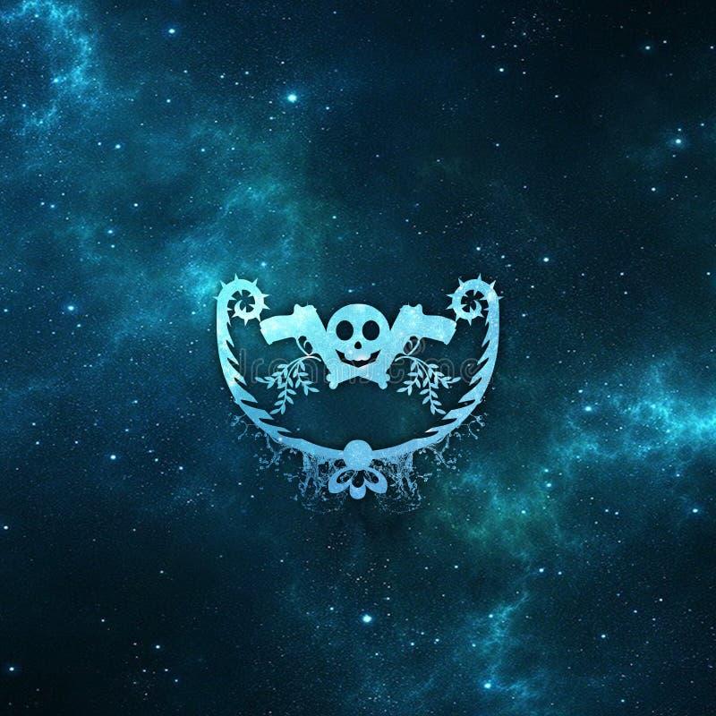Download Space skull stock illustration. Illustration of blue - 92369161