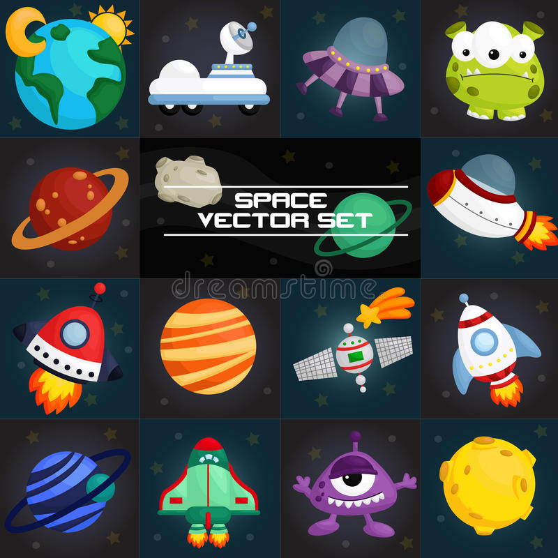 Space square vector stock illustration