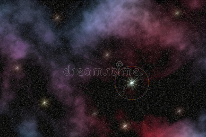 Space star decorative stock photography