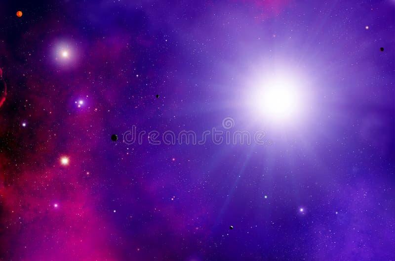 Sun Stars Space Stardust Background royalty free illustration