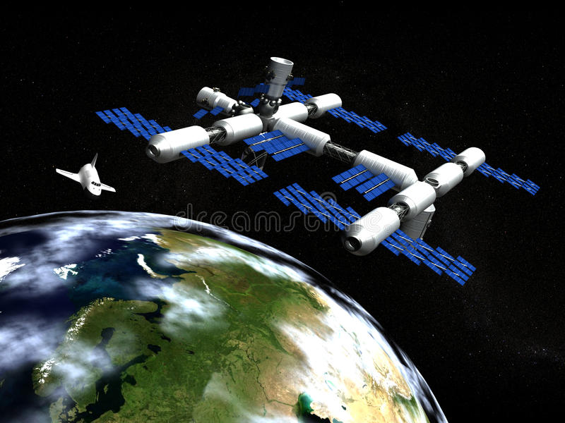 Space Station royalty free illustration
