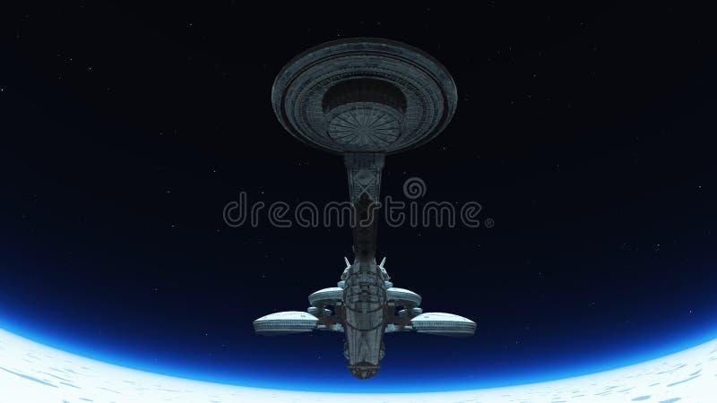 Download Space station stock illustration. Image of exploration - 22407019