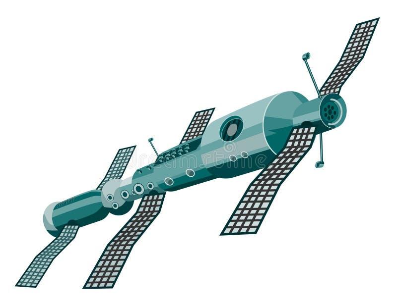 Space station stock illustration
