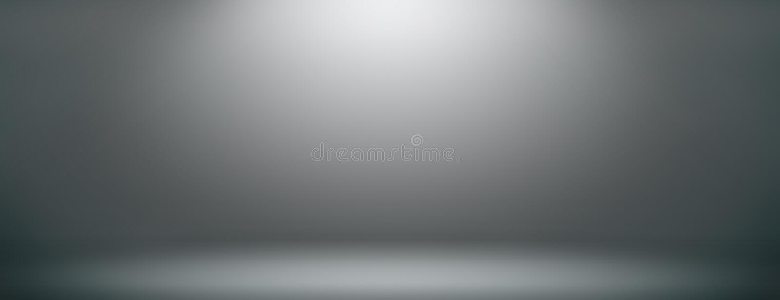 Space studio backdrop abstract gradient grey background. empty room studio gradient used us montage or display your. Products design stock illustration