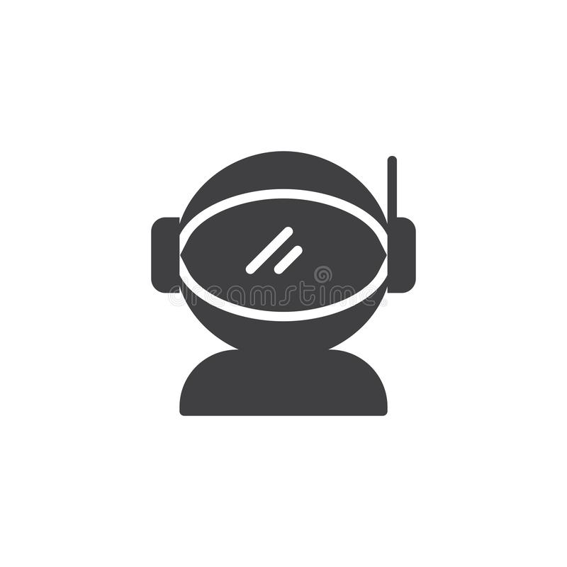 Space suit vector icon royalty free illustration