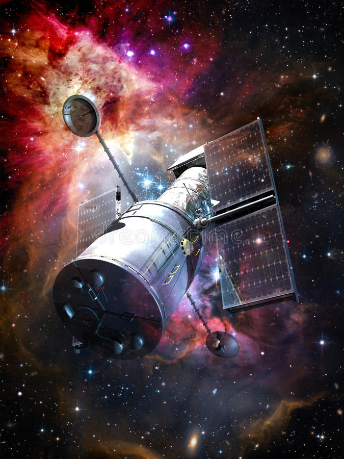 Space Telescope royalty free illustration