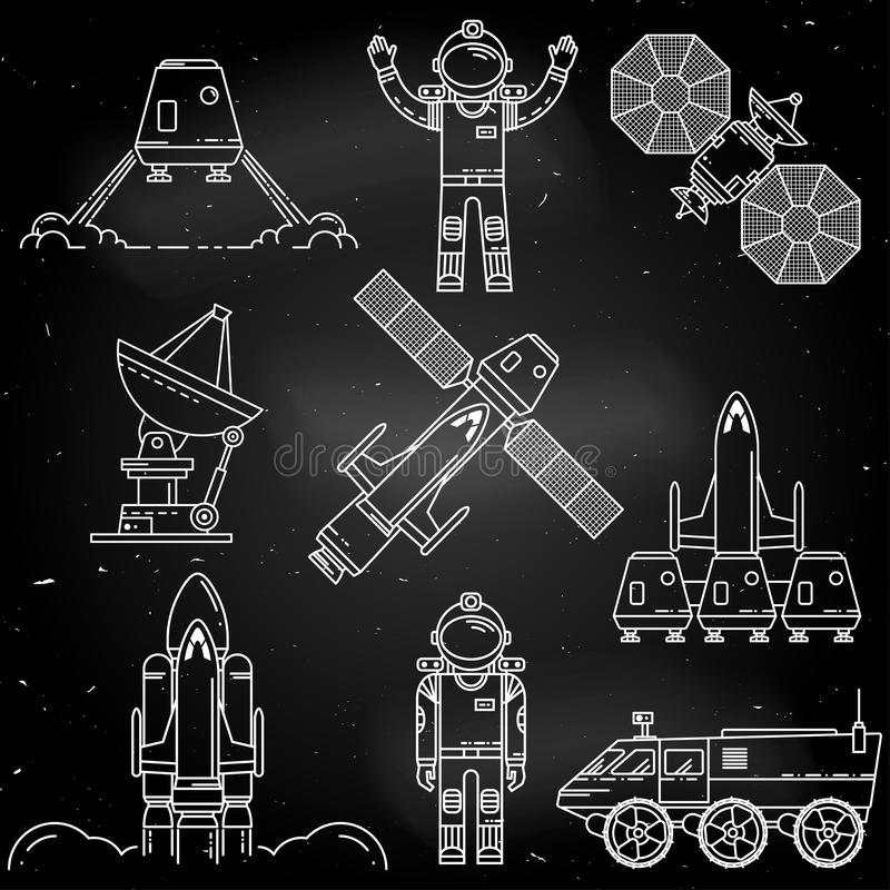 Space thin line icon. royalty free illustration