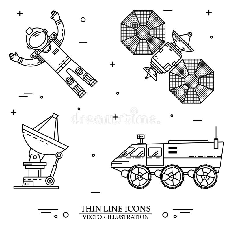 Space thin line icon. Vector illustration. stock illustration