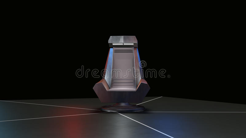 Space Throne, ready for comp of your characters. 3D RAW Render vector illustration