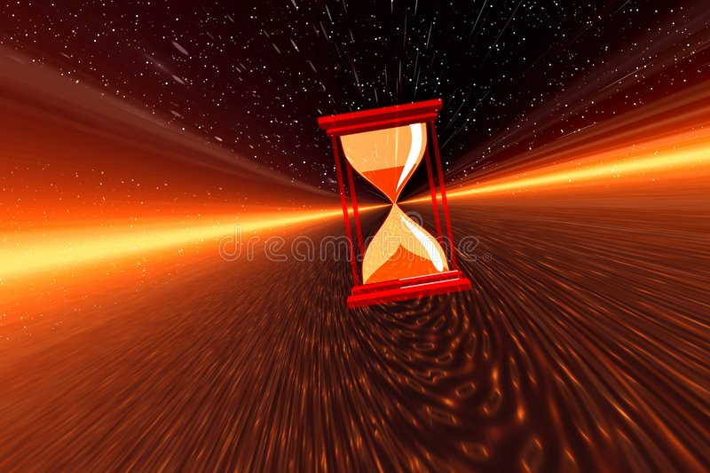 Space time stock illustration