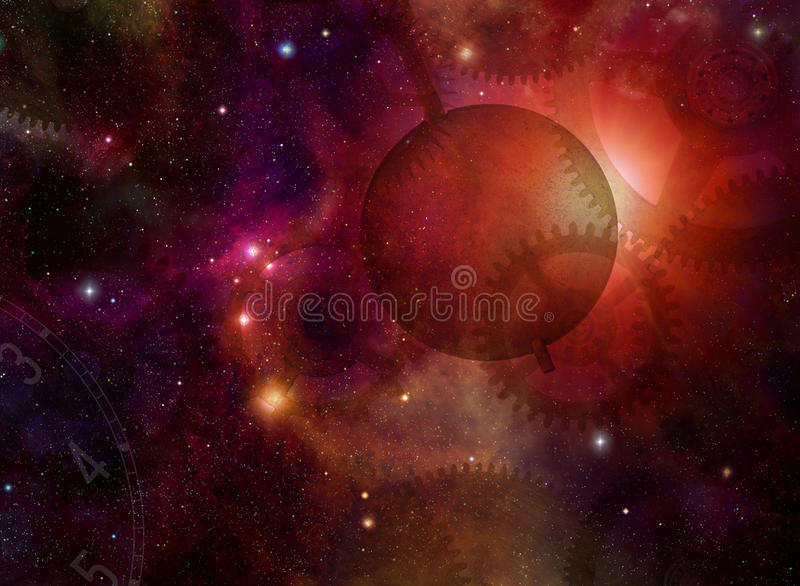Space and Time stock illustration