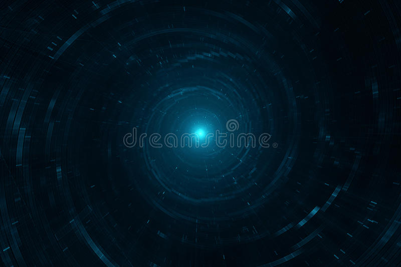 Space and time travel royalty free illustration