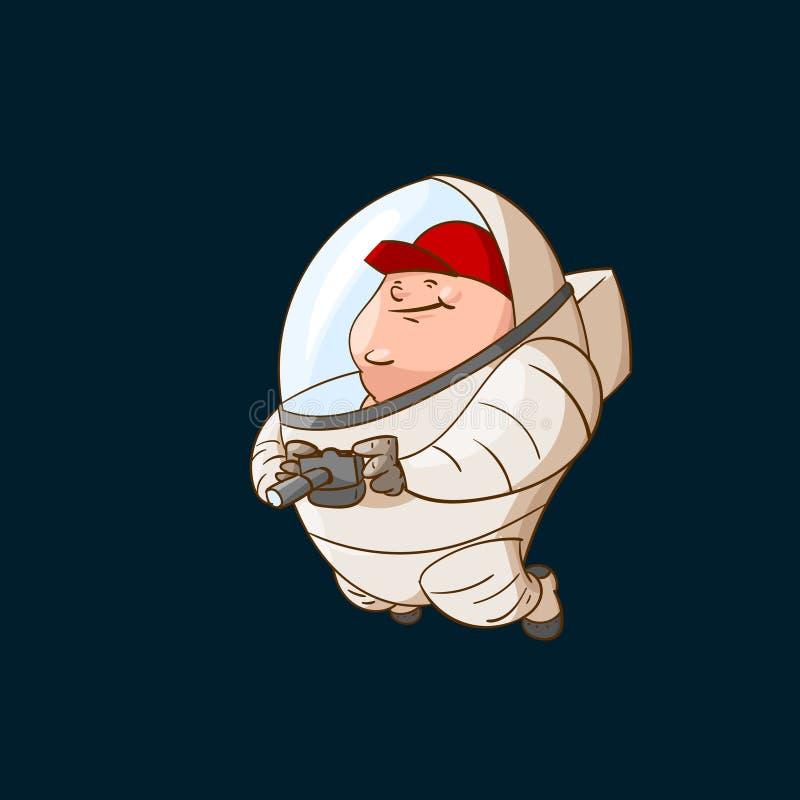 Space tourist in zero gravity royalty free illustration