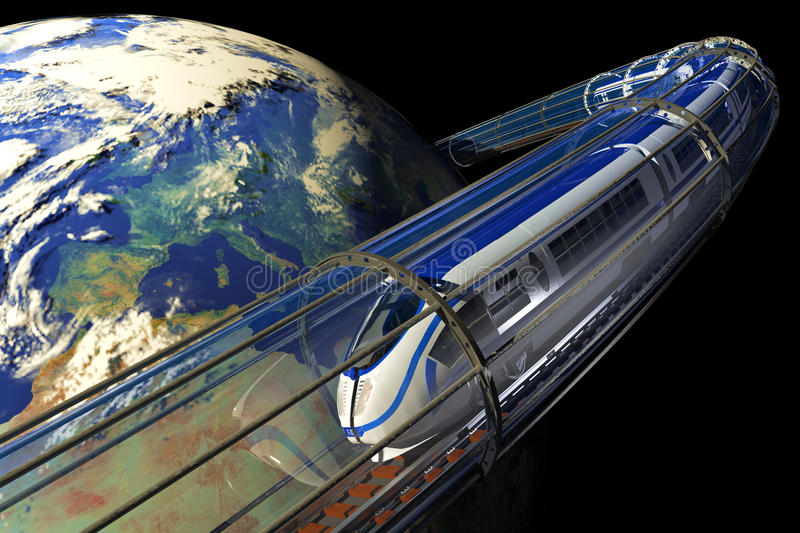 Download Space train stock illustration. Image of concept, locomotive - 15503064