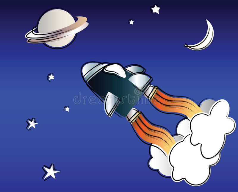 Space travel royalty free stock images