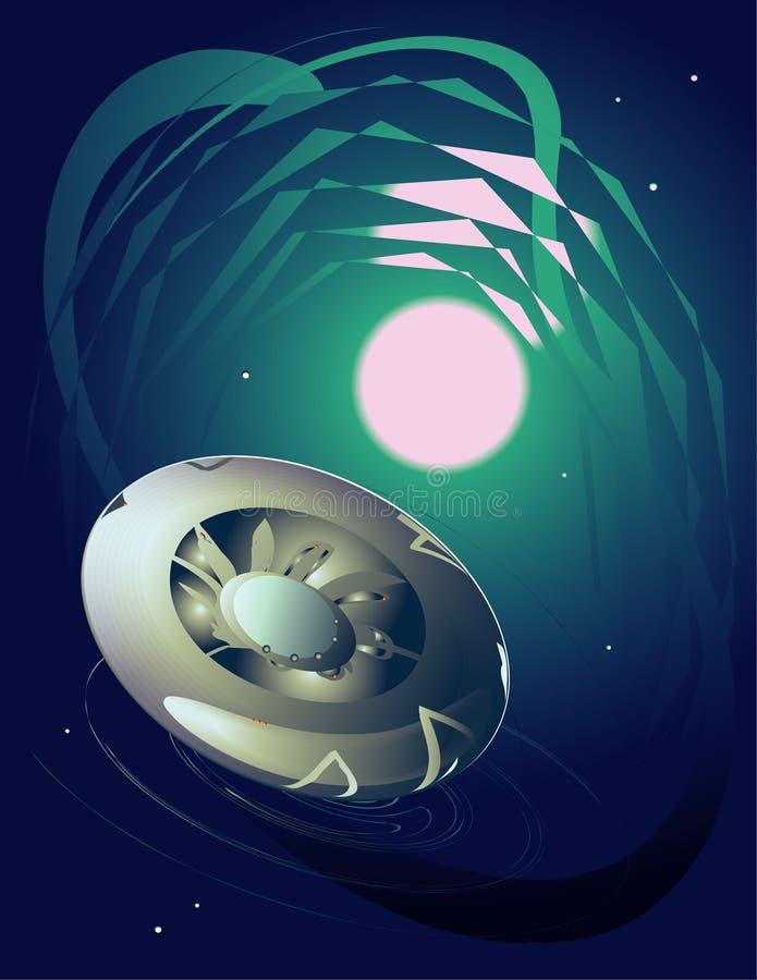 Space UFO vector illustration
