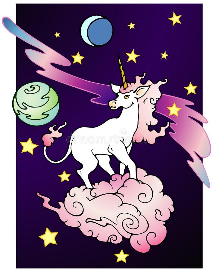 Download Space Unicorn stock vector. Image of illustration, magic - 14163506