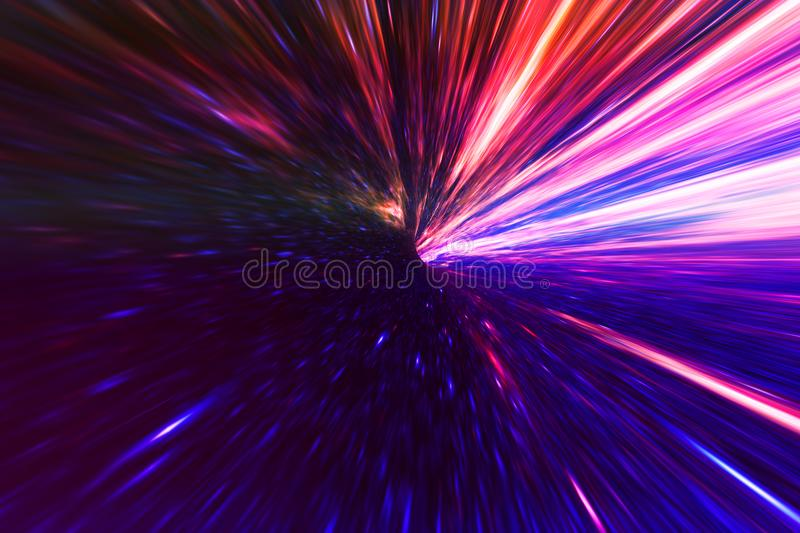 Space warp backdrop. Abstract space sky warp backdrop. Creativity and nature concept royalty free illustration