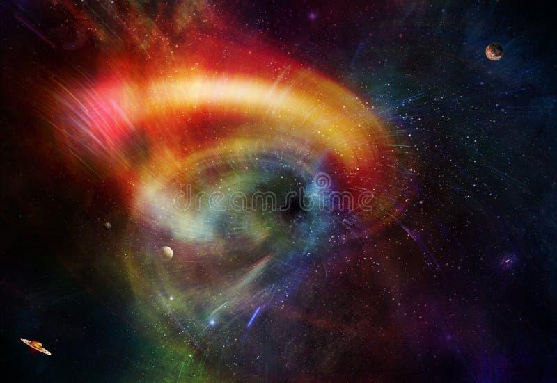 Space Wormhole stock illustration