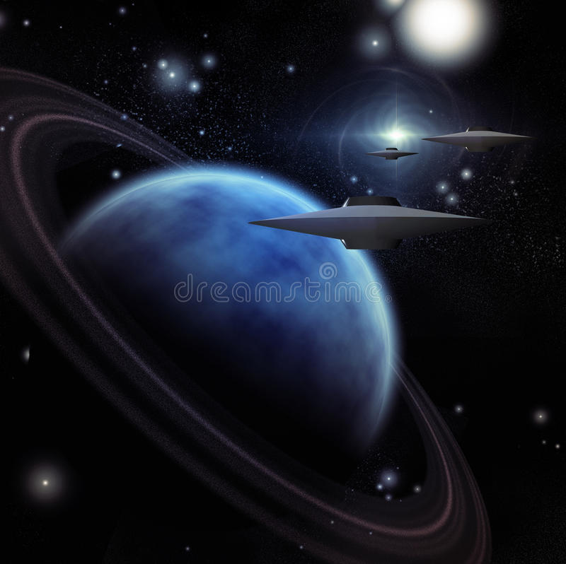 Download Spacecraft stock illustration. Image of abstract, journey - 12158683