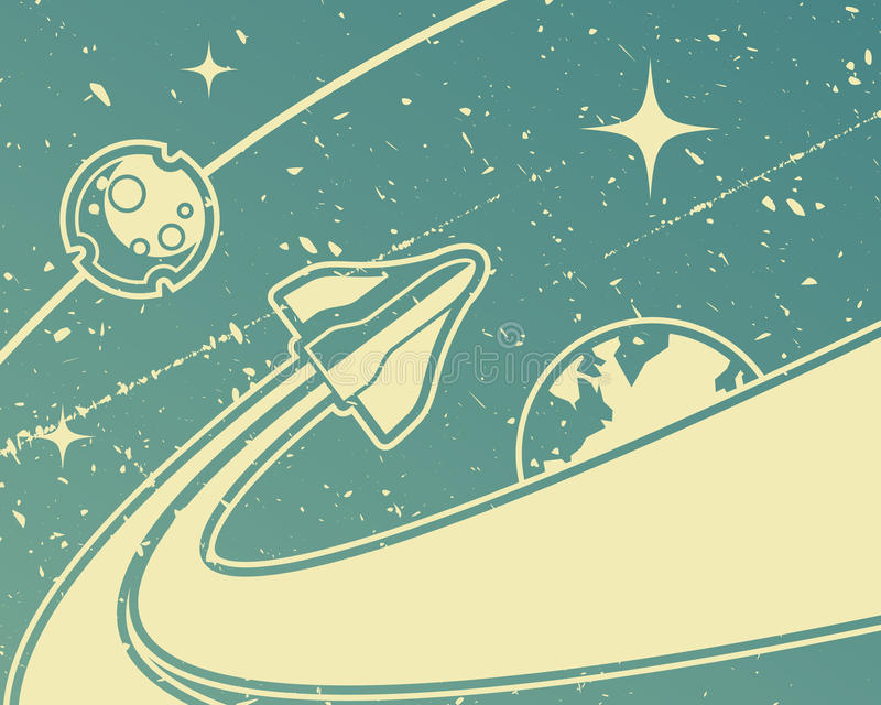 Spacecraft royalty free illustration