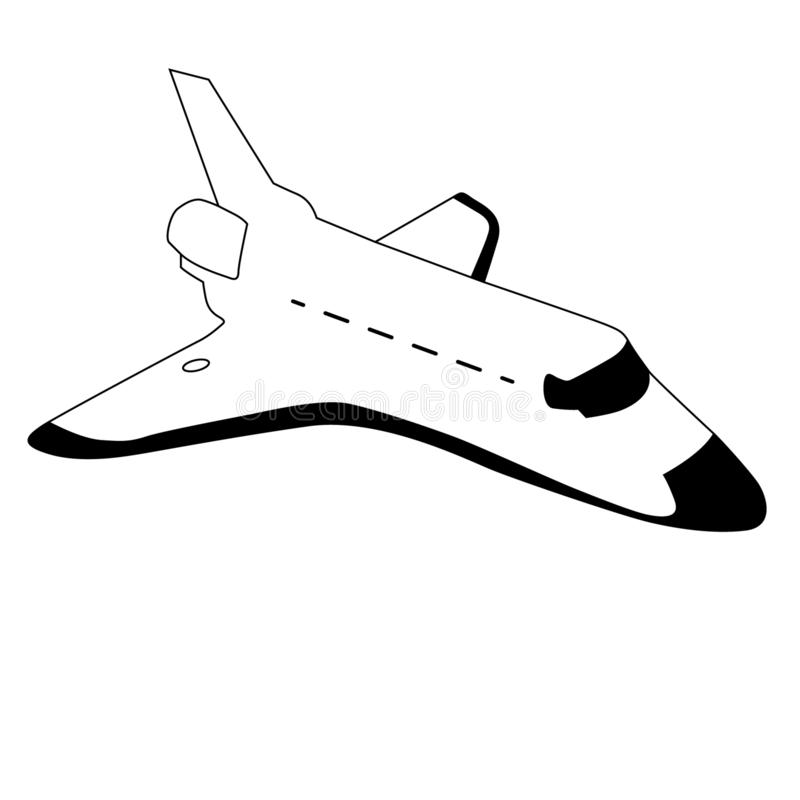 Spacecraft shuttle vector eps illustration by crafteroks royalty free illustration
