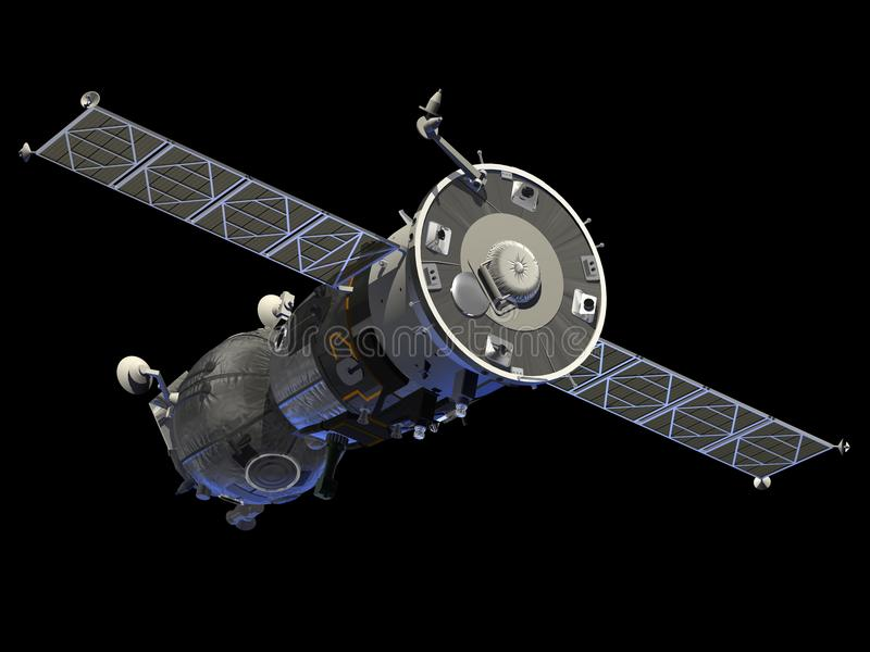 Download Spacecraft Soyuz stock illustration. Illustration of cosmonaut - 39256851