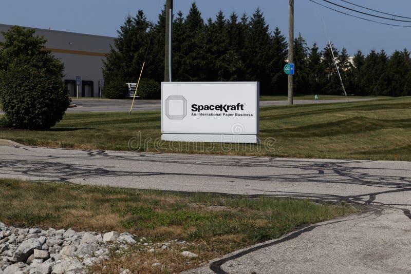 SpaceKraft-Standort SpaceKraft ist ein internationales Papiergeschäft und bietet stützbaren Verpackenlösungen mich an stockbild