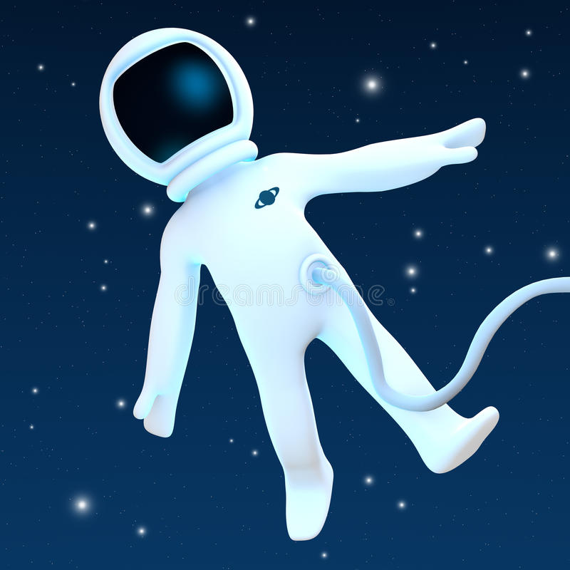 Download Spaceman stock illustration. Illustration of person, character - 14333341